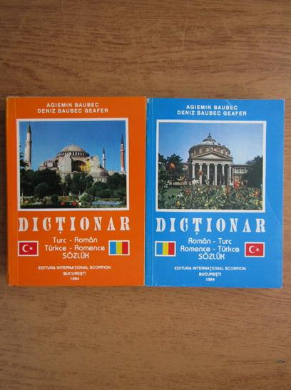 Anticariat: Agiemin Baubec, Deniz Baubec Geafer - Dictionar roman-turc, turc-roman (2 volume)