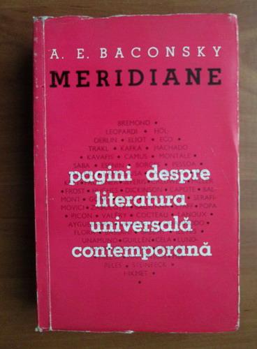 Anticariat: Anatol E. Baconsky - Pagini despre literatura universala contemporana