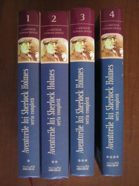 Anticariat: Arthur Conan Doyle - Aventurile lui Sherlock Holmes (4 volume)