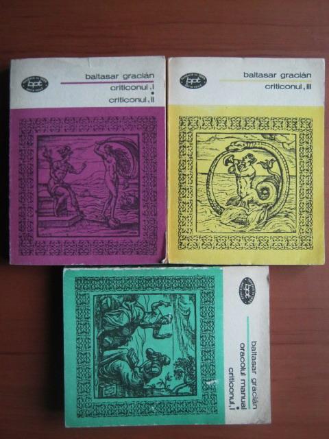 Anticariat: Baltasar Gracian - Criticonul (3 volume)