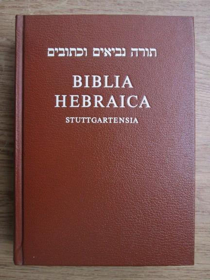 Anticariat: Biblia hebraica, stuttgartensia