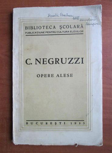 Anticariat: C. Negruzzi - Opere alese (1935)