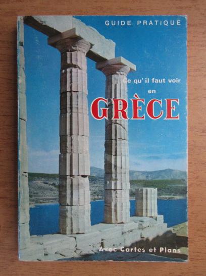 Anticariat: Ce qu'il fait voir en Grece