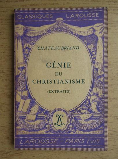 Anticariat: Chateaubriand - Genie du christianisme (1936)