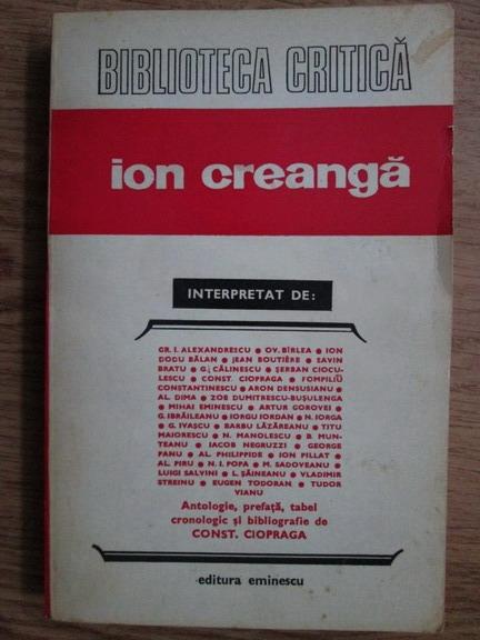 Anticariat: Constantin Ciopraga - Ion Creanga