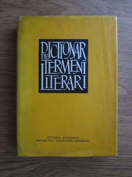Anticariat: Dictionar de termeni literari