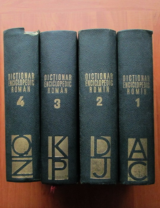Anticariat: Dictionar Enciclopedic Roman (4 volume, editura Politica 1962-1966)