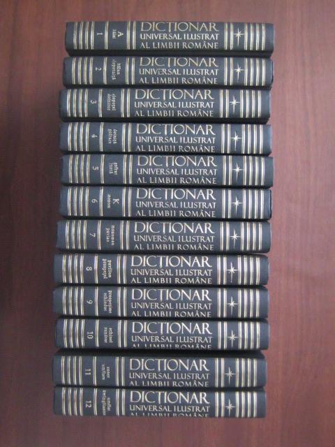 Anticariat: Dictionar universal ilustrat al limbii romane (12 volume)