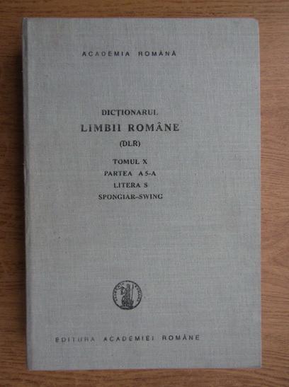 Anticariat: Dictionarul limbii romane (volumul 10, partea 5)