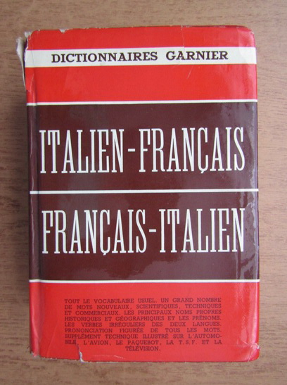 Anticariat: Dictionnaire moderne italien-francais et francais-italien