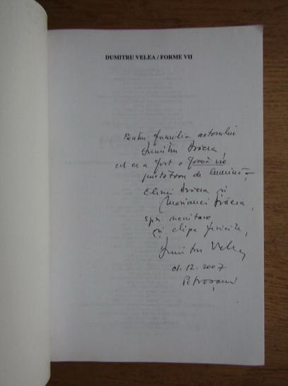 Anticariat: Dumitru Velea - Forme vii (cu autograful autorului)