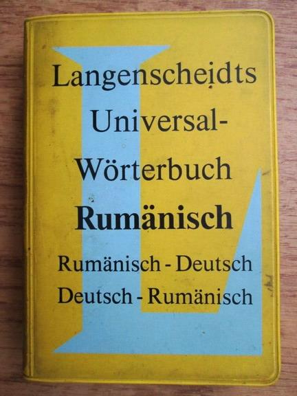 Anticariat: E. E. Lange Kowal - Langenscheidts universal-worterbuch rumanisch, rumanisch-deutsch, deutsch-rumanisch