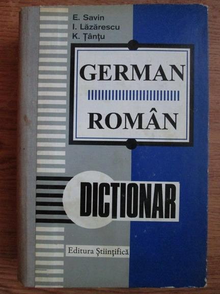 Anticariat: Emilia Savin, Ioan Lazarescu, Katharina Tantu - Dictionar german-roman