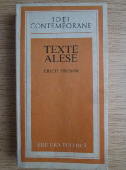 Anticariat: Erich Fromm - Texte alese