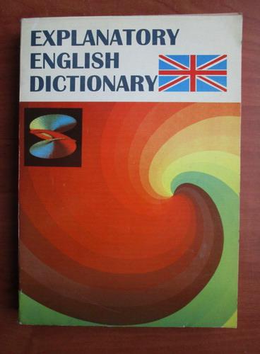 Anticariat: Explanatory english dictionary