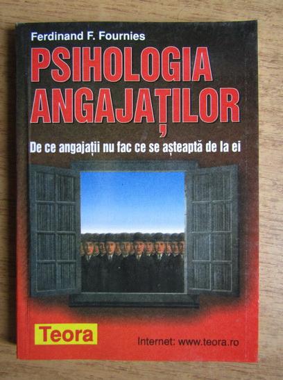 Anticariat: Ferdinand Fournies - Psihologia angajatilor