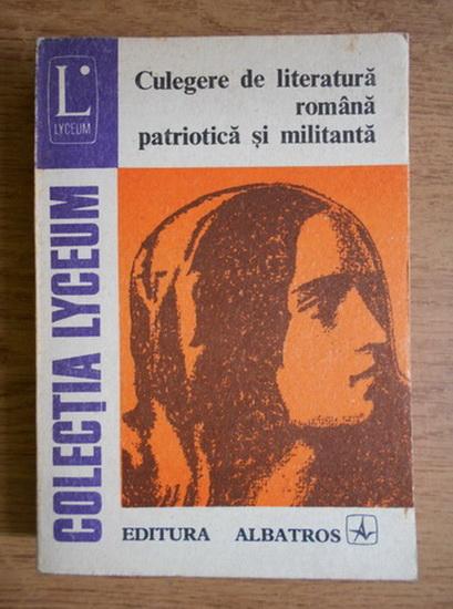 Anticariat: George Sorin Movileanu - Culegere de literatura romana patriotica si militanta