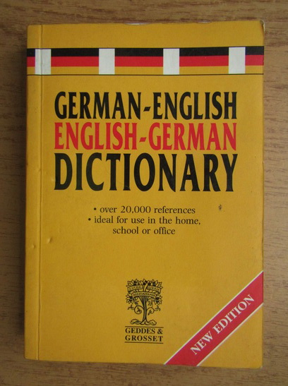 Anticariat: German-english, english-german dictionary