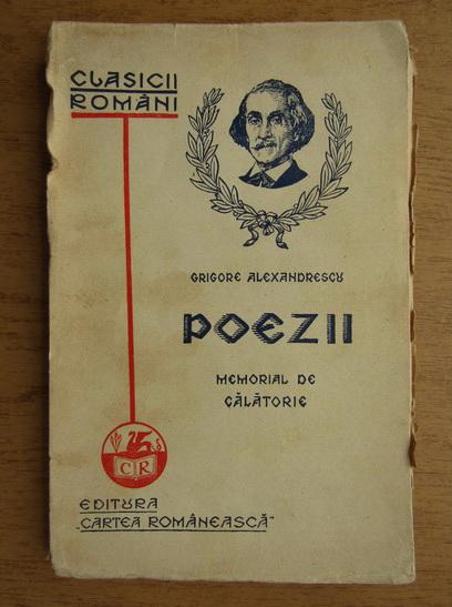 Anticariat: Grigore Alexandrescu - Poezii (1937)
