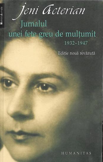 Anticariat: Jeni Acterian - Jurnalul unei fete greu de multumit 1932-1947