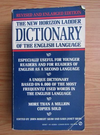 Anticariat: John Robert Shaw - The new horizon ladder dictionary of the english language