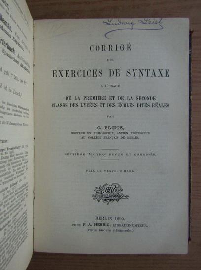 Karl Ploetz, Gustav Ploetz - Guide des institutrices ...