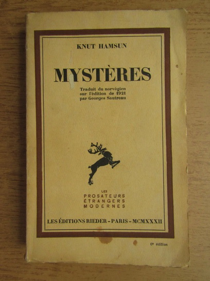 Anticariat: Knut Hamsun - Mysteres (1932)