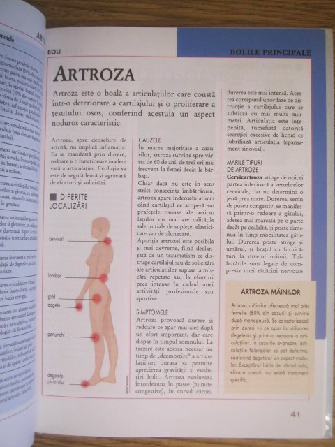 deteriorarea articulațiilor
