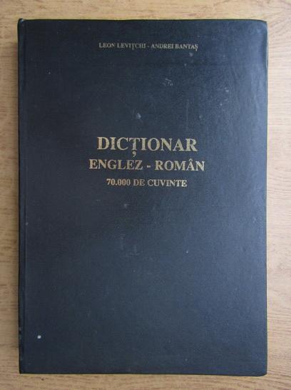 Anticariat: Leon Levitchi - Dictionar englez-roman (format mare)