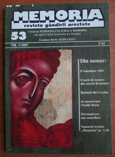 Anticariat: Memoria. Revista gandirii arestate (nr. 53)