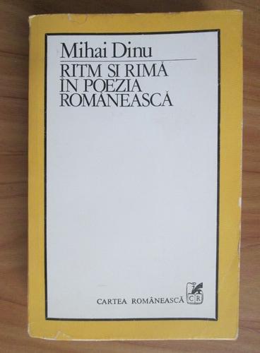 Anticariat: Mihai Dinu - Ritm si rima in poezia romaneasca