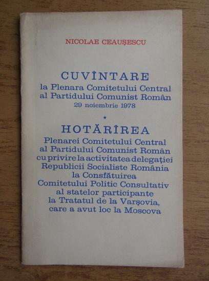 Anticariat: Nicolae Ceausescu - Cuvantare. Hotarare