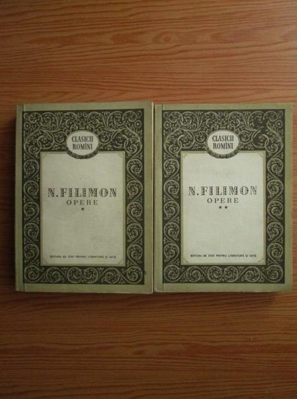 Anticariat: Nicolae Filimon - Opere (2 volume)