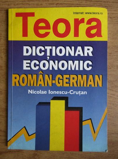 Anticariat: Nicolae Ionescu-Crutan - Dictionar economic roman-german