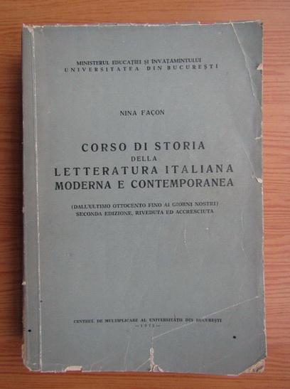 Anticariat: Nina Facon - Corso di storia dela letteratura italiana moderna e contemporanea