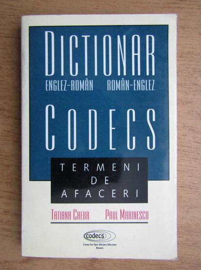 Anticariat: Paul Marinescu - Dictionar englez-roman, roman-englez codecs. Termeni de afaceri