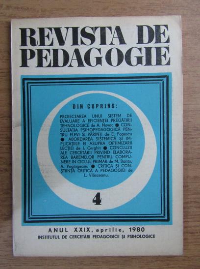 Anticariat: Revista de pedagogie, nr. 4, 1980