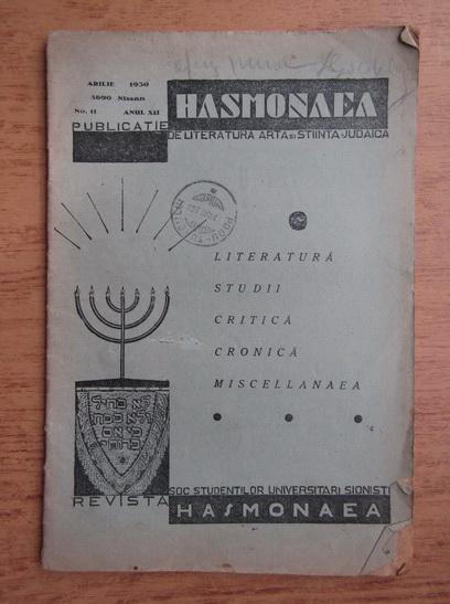 Anticariat: Revista Hasmonaea, anul XII, nr. 11, aprilie 1930