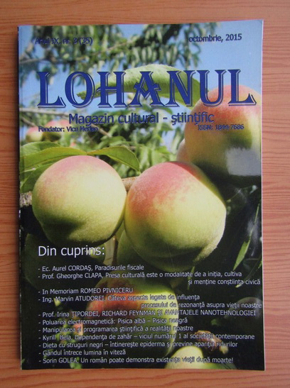 Anticariat: Revista Lohanul, nr. 35, octombrie 2015