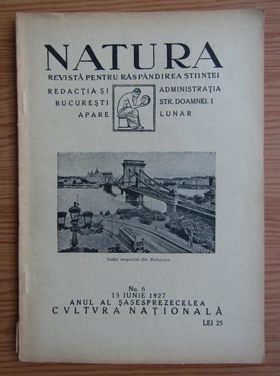 Anticariat: Revista Natura, nr. 6, iunie 1927