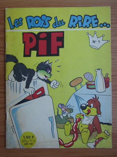 Anticariat: Revista Pif. Les rois du Rire, nr. 1, iunie 1967