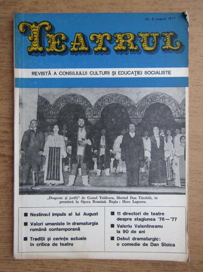 Anticariat: Revista Teatrul, nr. 8, august 1977