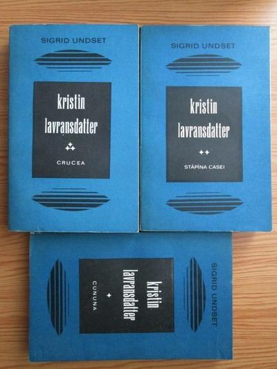 Anticariat: Sigrid Undset - Kristin Lavransdatter (3 volume)