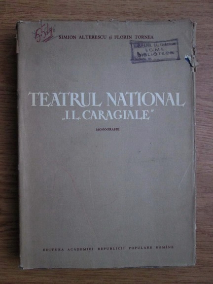 Anticariat: Simion Alterescu - Teatrul National I.L. Caragiale