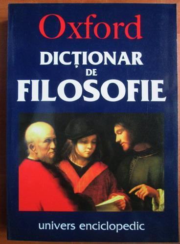 Anticariat: Simon Blackburn - Dictionar de filosofie Oxford