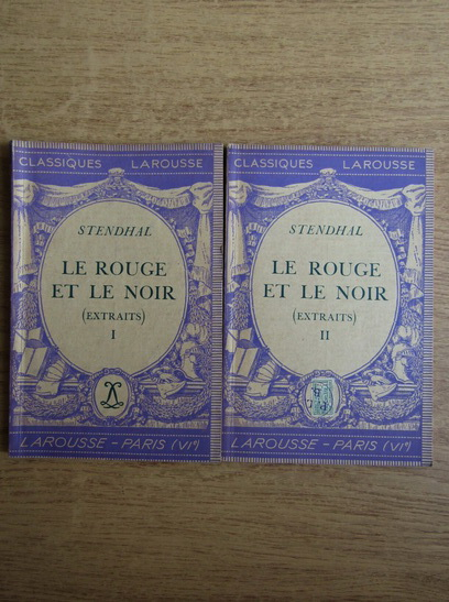 Anticariat: Stendhal - Le rouge et le noir (2 volume, 1934)