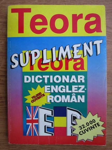 Anticariat: Supliment. Dictionar englez-roman