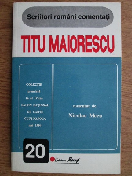 Anticariat: Titu Maiorescu - Scriitori romani comentati