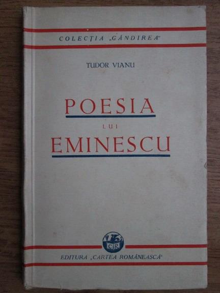 Anticariat: Tudor Vianu - Poesia lui Emiescu (1930)