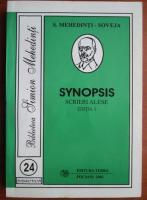 Simion Mehedinti - Synopsis (volumul 1)
